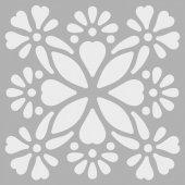 Çiçek Çerçeve Stencil Tasarımı 30 x 30 cm-2