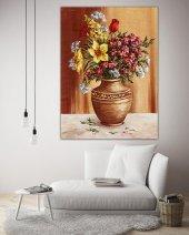 Yağlı Boya Vazo Çiçekleri Kanvas Tablo-3