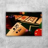 Poker Kağıtları Ve Fişleri Fotoğraf Kanvas...