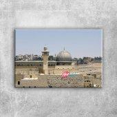 Mescidi Aksa Kudüs Dini İnanç Kanvas Tablo