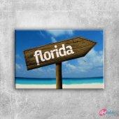 Florida İşareti Fotoğraf Kanvas Tablo