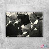 1936 Atatürk ve İnönü, Mustafa Kemal Atatürk-19 Kanvas Tablo