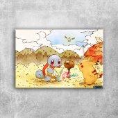 Pokemon Karakterleri 26 Kanvas Tablo
