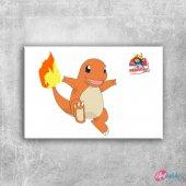 Charmander 9 Pokemon Karakterleri Kanvas Tablo