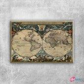 1684 Blaeunun Cizdigi Eski Cizim Dunya Haritasi An...