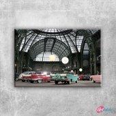 Otomobiller 89 Amerikan Arabalar Eski Araclar Kanvas Tablo