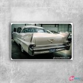Cadillac Beyaz Klasik Otomobiller Siyah Klasik Tablo