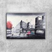 Sokak Manzarası 4 Yel Değirmeni Paris Dekoratif Ka...
