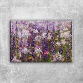 Rengarenk Çiçekler 6 Yağlı Boya Dekoratif Kanvas T...
