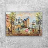 Paris Eyfel Kulesi 6 Şehir Manzaraları Yağlı Boya Canvas Tablo