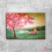 Paul Cezanne Kar Yagli Boya Klasik Sanat Kanvas Ta...