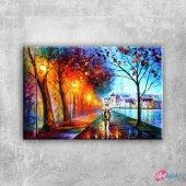 Paris Eyfel Kulesi 17 Şehir Manzaraları Canvas Tab...