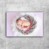 Uyuyan Bebek & Çocuk Dünyası Kanvas Tablo Art...