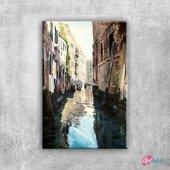 Venedik Dar Sokakaları Ve Kanalları İtalya, İç...