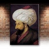 Fatih Sultan Mehmet Portre Osmanlı Tarihi Dekoratif Canvas Tablo-2