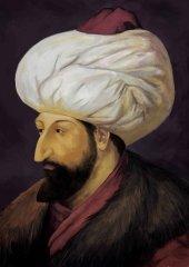 Fatih Sultan Mehmet Portre Osmanlı Tarihi Dekoratif Canvas Tablo-3