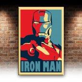 Iron Man Demir Adam Portre Afiş Dekoratif Canvas Tablo-2
