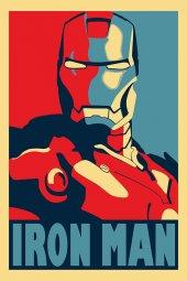 Iron Man Demir Adam Portre Afiş Dekoratif Canvas Tablo-3