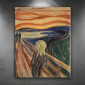 Edvard Munch Çığlık Yağlı Boya Sanat Dekoratif...