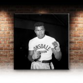 Muhammed Ali Boks-6 Siyah Beyaz Dekoratif Kanvas Tablo-2