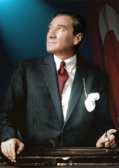 Mustafa Kemal Atatürk Portre Dekoratif Kanvas Tablo-3