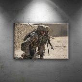 Savaş 3 Askeri Dekoratif Canvas Tablo