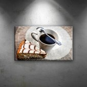Kahve Ve Tatlı Lezzetler Dekoratif Canvas Tablo