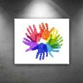 Autism Hands Bebek & Çocuk Dünyası Dekoratif Canvas Tablo