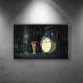 Totoro 4 Popüler Kültür Dekoratif Canvas Tablo