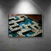 Scrabble Kelime Oyunu Dekoratif Canvas Tablo