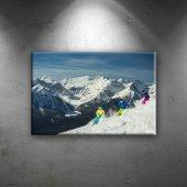 Kayak Dağ Manzarası Spor Dekoratif Canvas Tablo