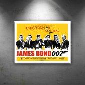 Retro James Bond Poster Dekoratif Canvas Tablo