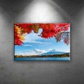 Manzara Dağ Bulut Sonbahar Dekoratif Canvas Tablo...