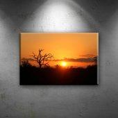Gün Batımı Kızıl Bulut Dekoratif Canvas Tablo...
