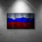Rusya Bayrak Dekoratif Canvas Tablo
