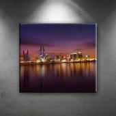 Dubai Dünyaca Ünlü Şehirler Dekoratif Kanvas Tablo...