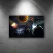 Outher Space Dünya & Uzay Dekoratif Kanvas Tablo