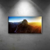 Gün Işığı Ve Dağ Doğa Manzaraları Dekoratif Kanvas...