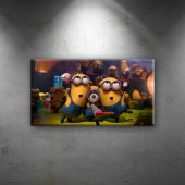Minions Bebek & Çocuk Dünyası Dekoratif Kanvas...