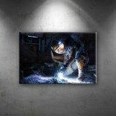 Marslı Sinema Dekoratif Kanvas Tablo
