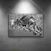 Koşucular Spor Dekoratif Kanvas Tablo