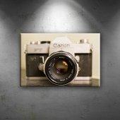 Retro Fotoğraf Makinası Fotoğraf Dekoratif Kanvas Tablo