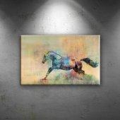 Modern Sanat Ve At Kompozisyon Hayvanlar Dekoratif Kanvas Tablo