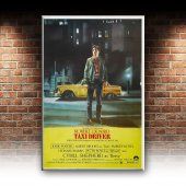 Retro Eski Poster Taxi Driver Robert De Niro Film Kanvas Tablo-2