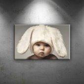 Sevimli Bebek Portre Tavşan Kostüm Çocuk...