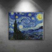 Vincent Van Gogh Yıldızlı Gece Yağlı Boya Sanat Kanvas Tablo