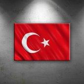 Türk Bayrağı Ay Yıldız Kırmızı 2 Kanvas Tablo...