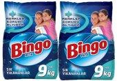 Bingo Toz Deterjan Yıkamalar 9 Kg*2 Adet