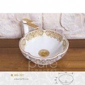 Beyaz Altın Çanak Lavabo