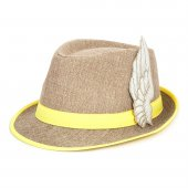 Sarı Melek Kanatlı Fötr Şapka